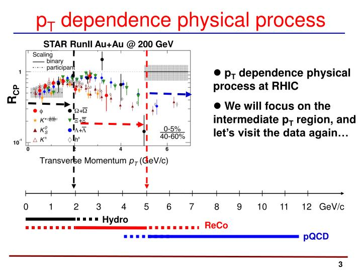P t dependence physical process