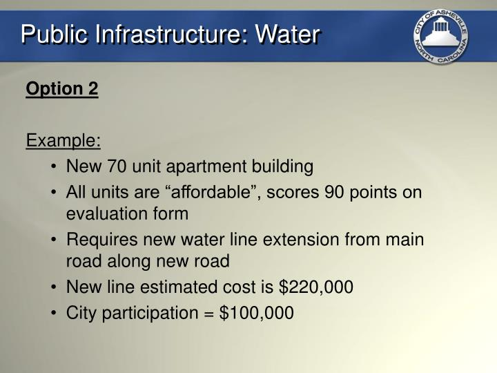 Public Infrastructure: Water