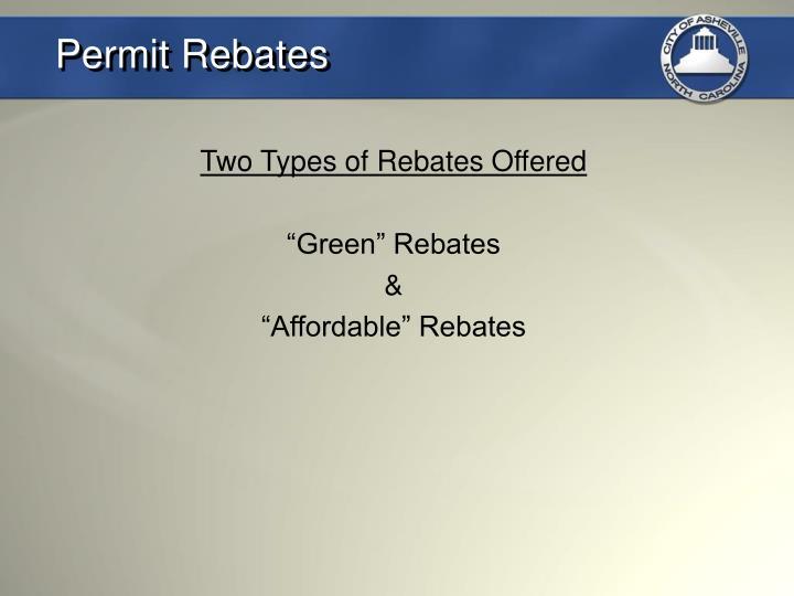 Permit Rebates