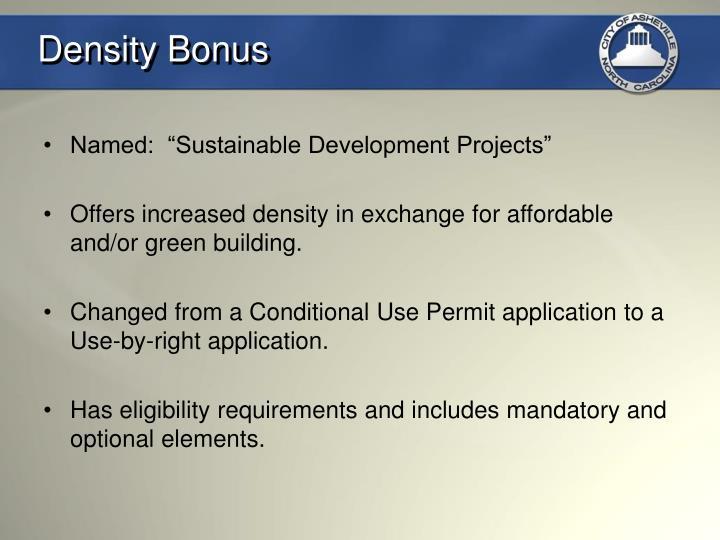 Density Bonus