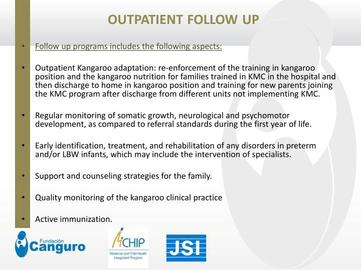 Outpatient follow up1
