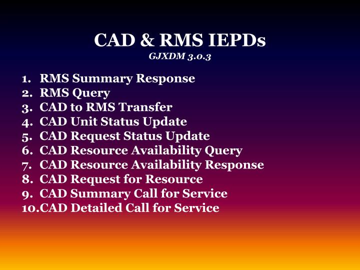 CAD & RMS IEPDs