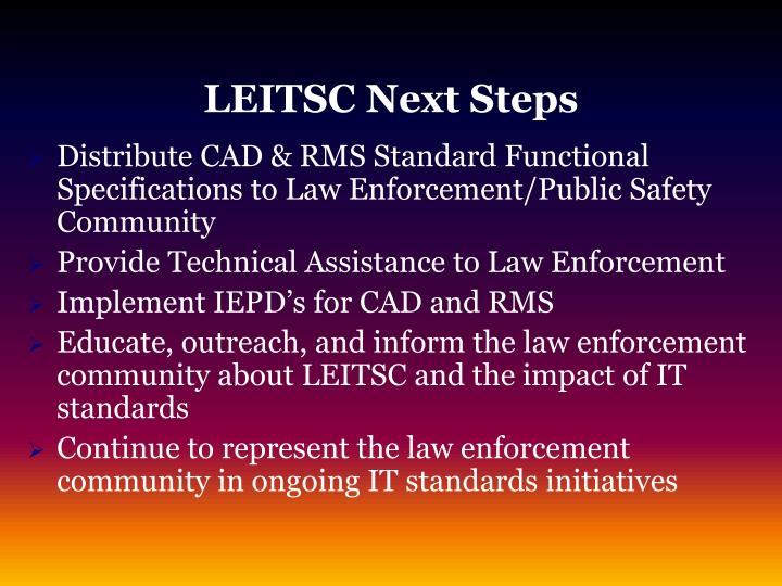LEITSC Next Steps