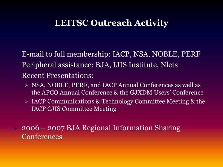 LEITSC Outreach Activity