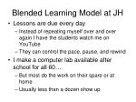 blended learning model at jh