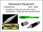 necessary equipment3