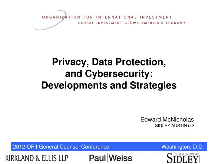 privacy data protection and cybersecurity developments and strategies n.