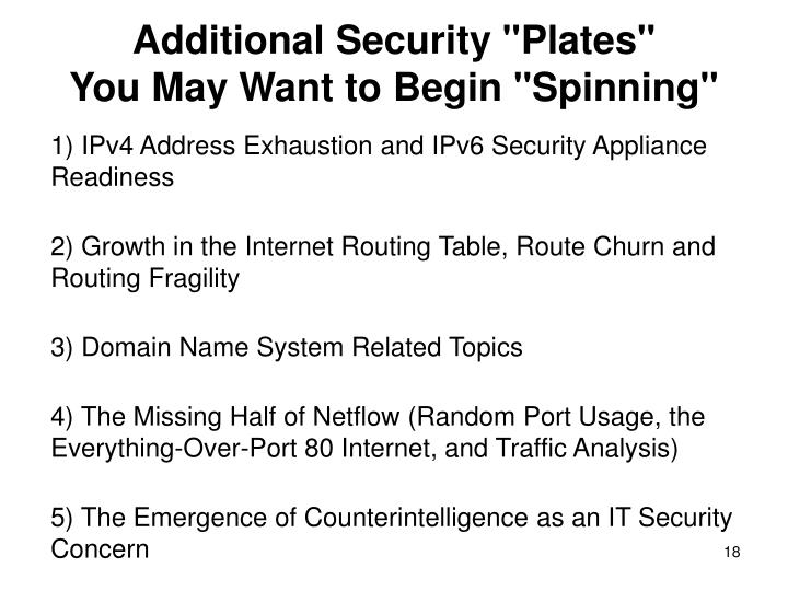 "Additional Security ""Plates"""