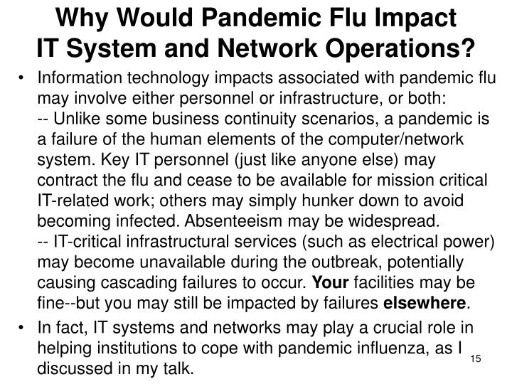 Why Would Pandemic Flu Impact