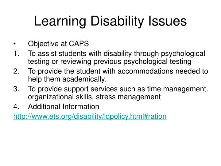 organizational learning disabilities Learning disabilities are neurologically-based processing problems these processing problems can interfere with learning basic skills such as reading, writing and/or math.