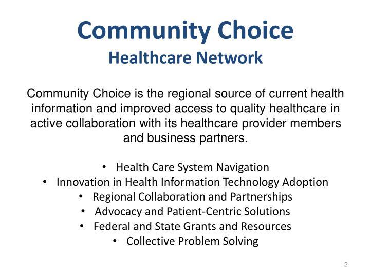 Community Choice