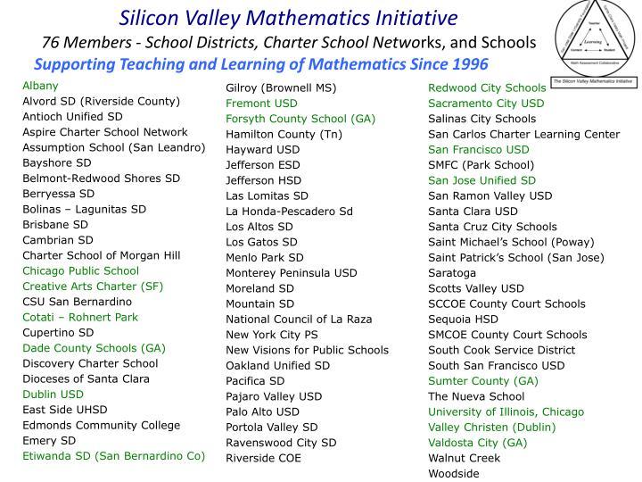 Silicon Valley Mathematics Initiative