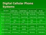 digital cellular phone systems