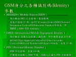 gsm identity1