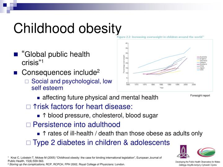 childhood obesity rates in wales