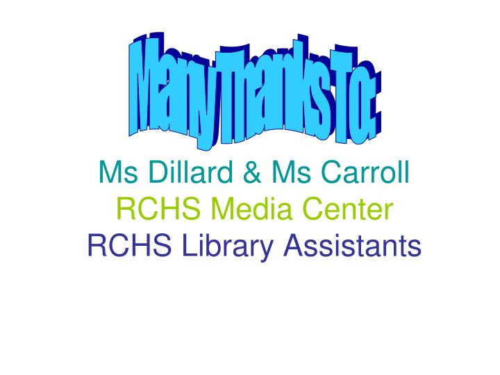 Ms Dillard & Ms Carroll