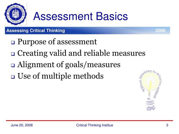 Assessment basics