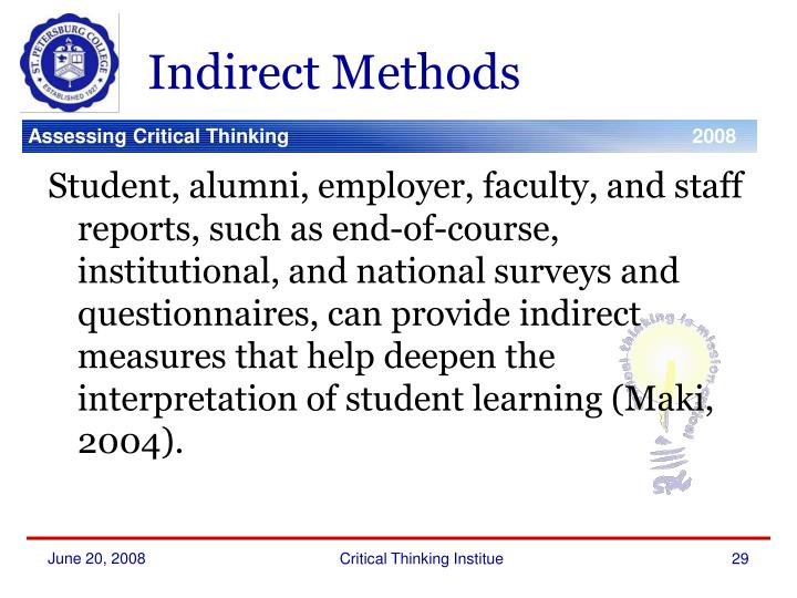 Indirect Methods