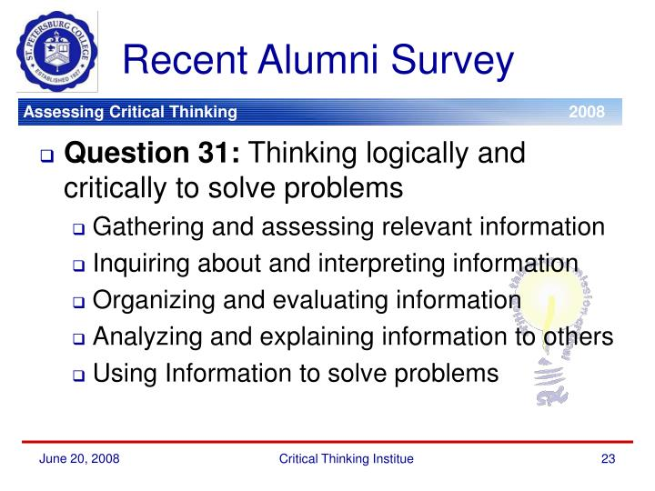 Recent Alumni Survey