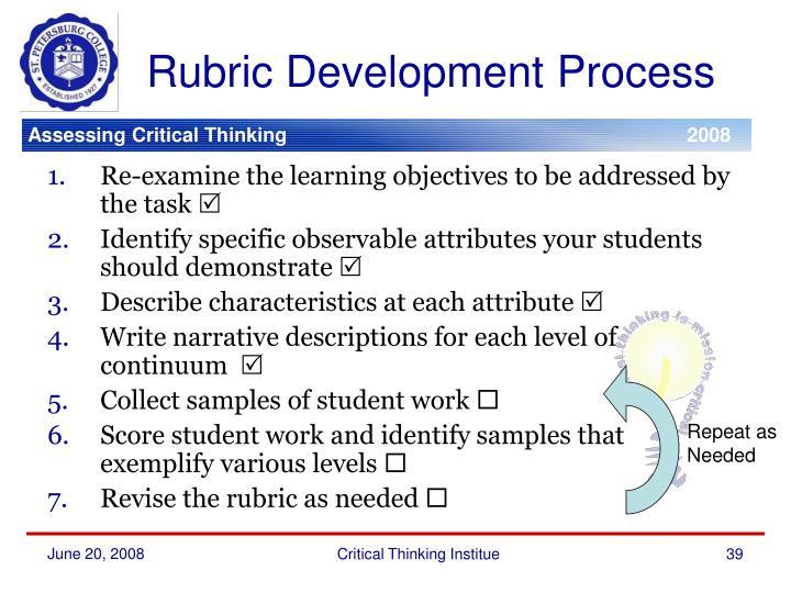 Rubric Development Process