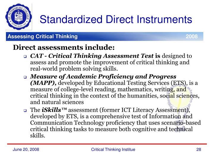 Standardized Direct Instruments