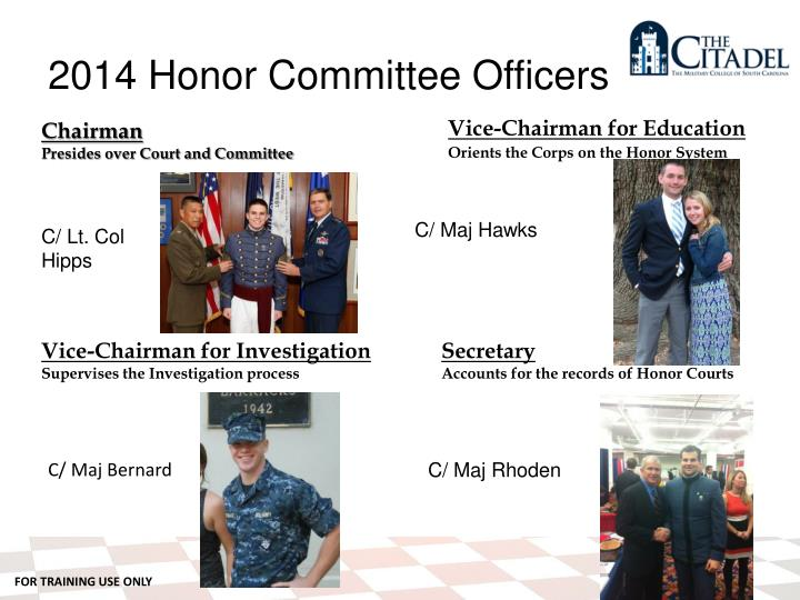 2014 Honor Committee Officers