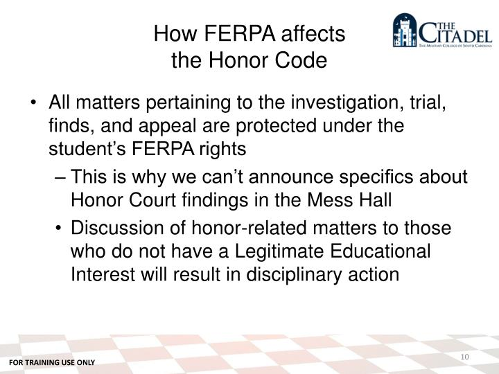 How FERPA affects