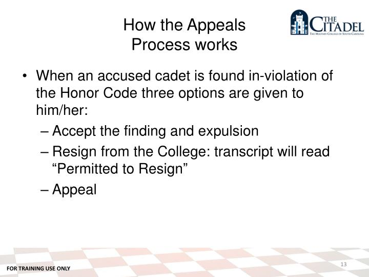 How the Appeals