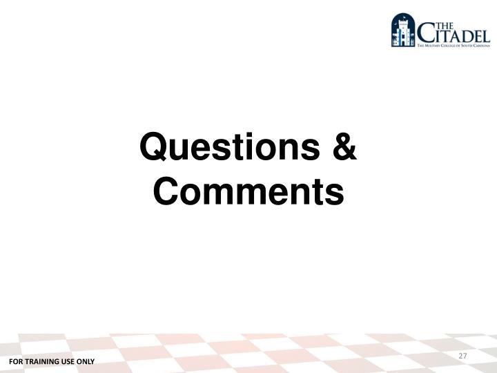 Questions &
