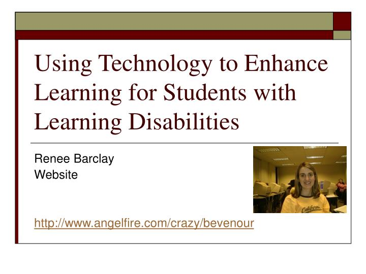 using technology to enhance learning for students with learning disabilities n.