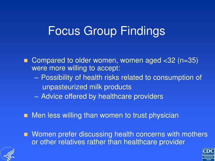 Focus Group Findings