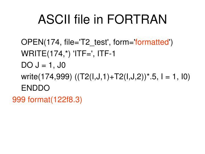 ASCII file in FORTRAN