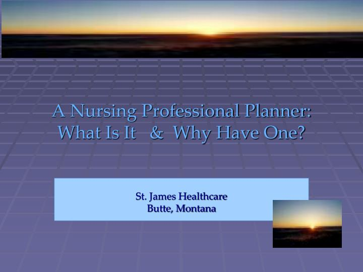 A nursing professional planner what is it why have one