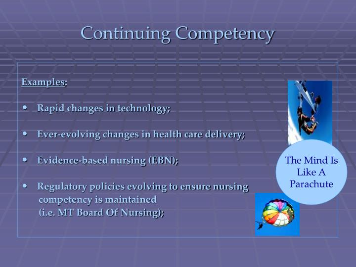 Continuing Competency