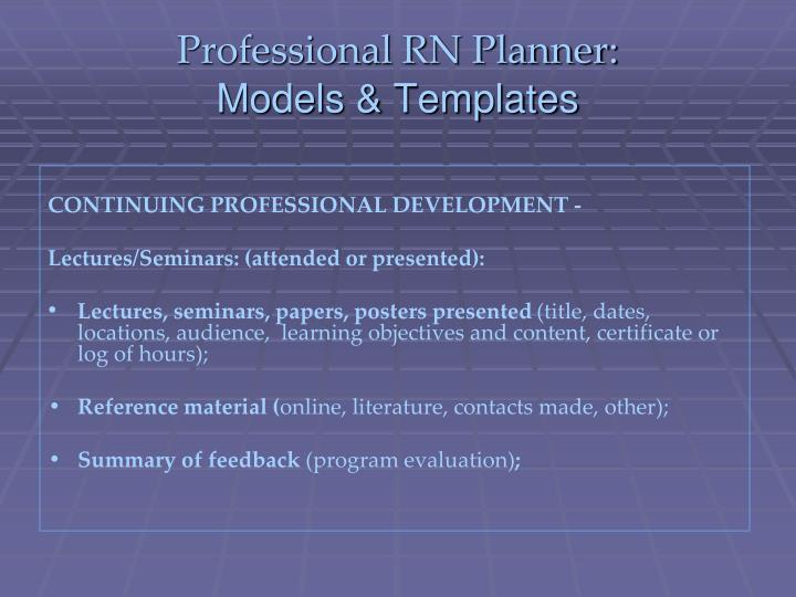 Professional RN Planner: