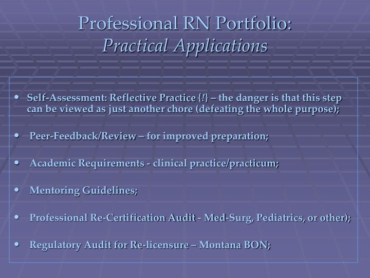 Professional RN Portfolio: