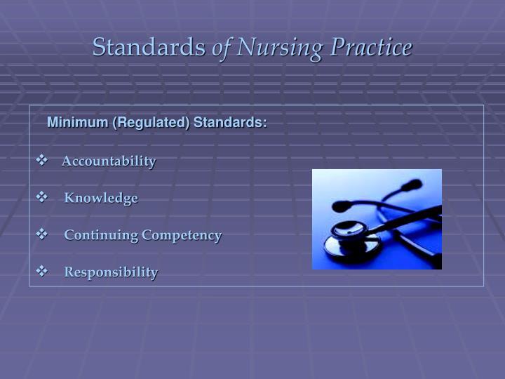 Standards of nursing practice