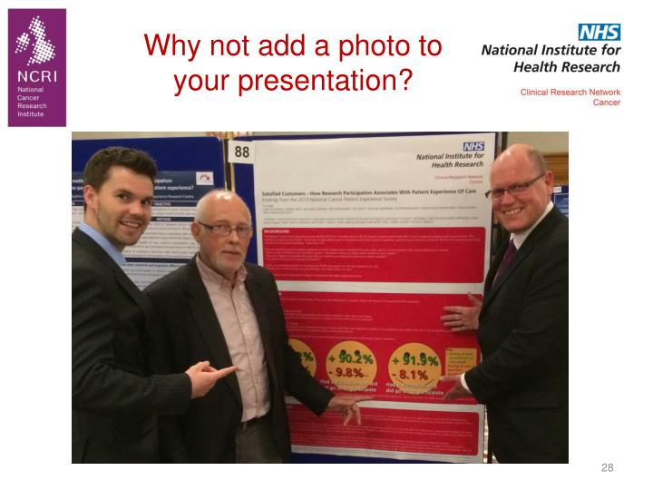 Why not add a photo to your presentation?