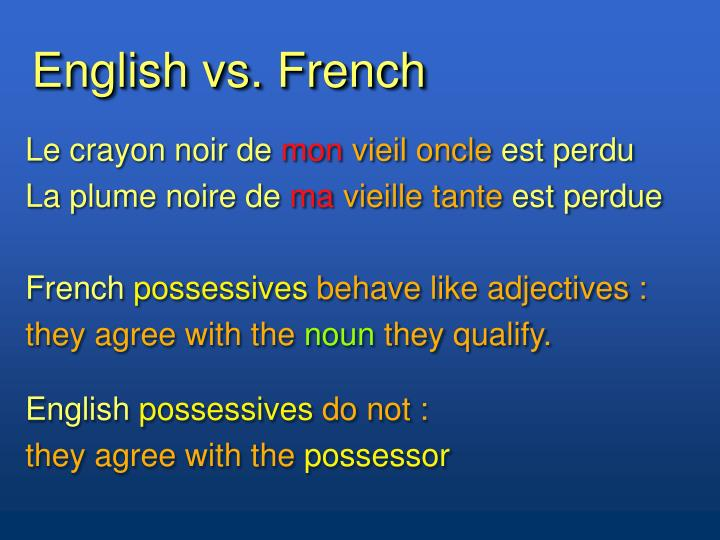English vs. French