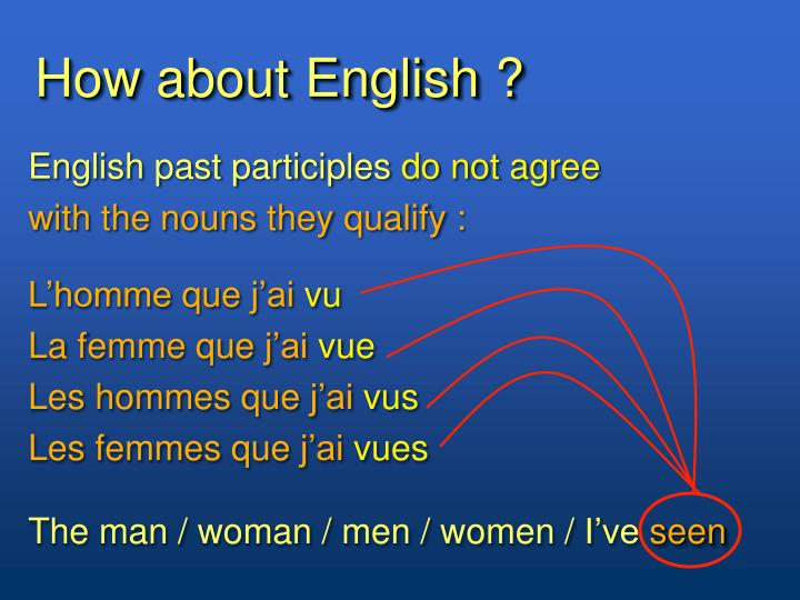 How about English ?