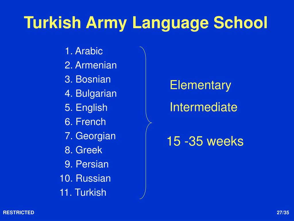 PPT - Language Trainings for NCOs in Turkey PowerPoint