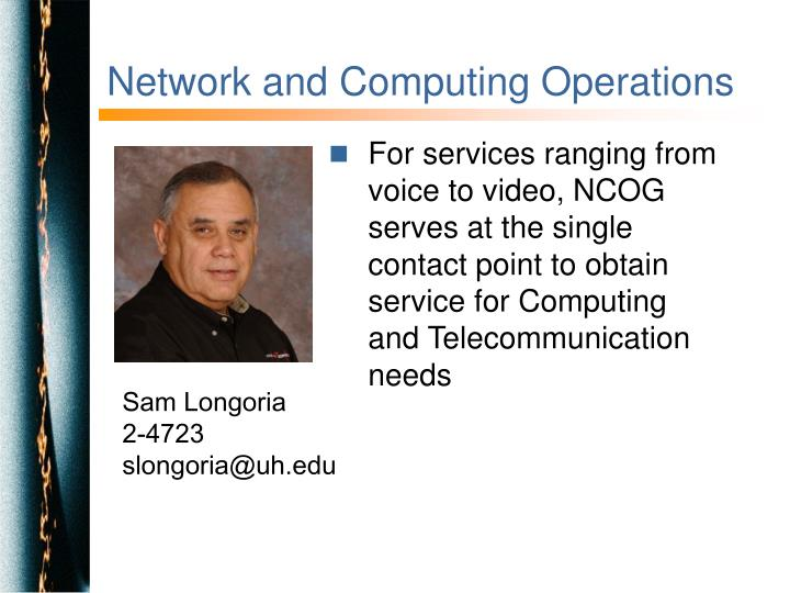 Network and Computing Operations