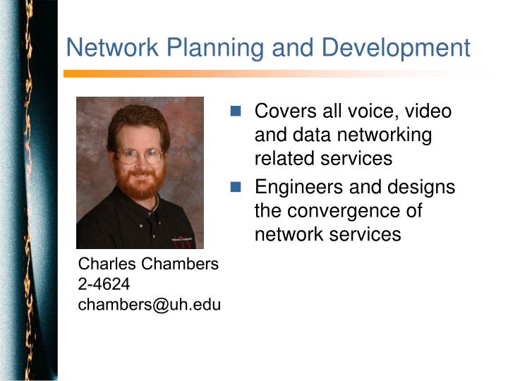 Network Planning and Development
