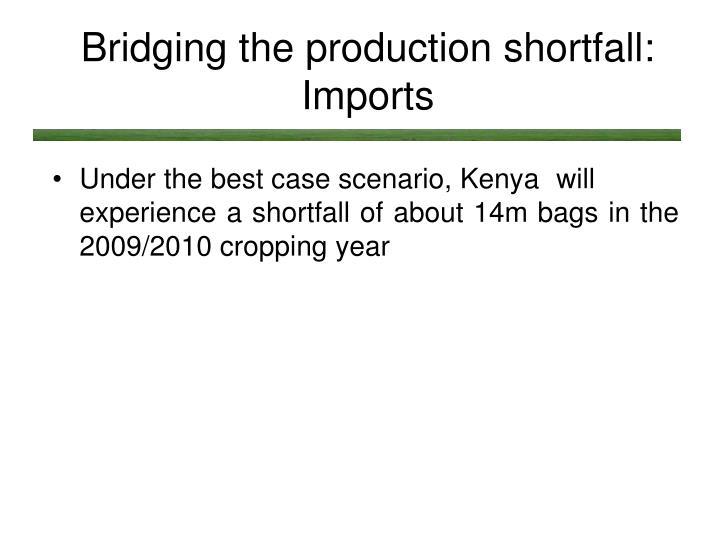 Bridging the production shortfall: Imports