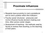 proximate influences