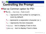 controlling the prompt1