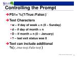 controlling the prompt2