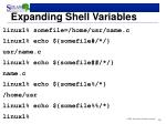expanding shell variables1