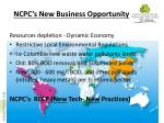 ncpc s new business opportunity