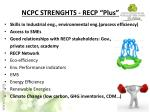ncpc strenghts recp plus